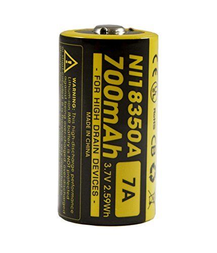 New Nitecore IMR 18350 NI18350A 700mAh 7A 3.7V Rechargeable Battery