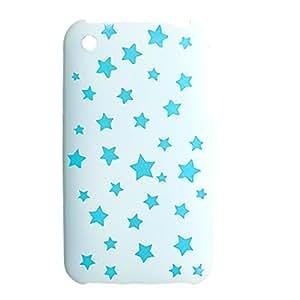 Caso trasero duro plástico del patrón de la estrella azul para el iPhone 3G