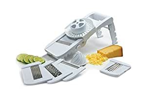 Norpro Deluxe Mandoline Slicer, Grater, Shredder, Julienne and Juicer w/ Safety Guard
