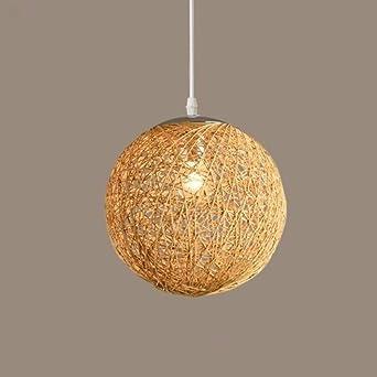 Lustre La Lampe Et Sisal De Gqlb Rotin200mm Salon Ficelle Boule Commission Art SMpqzUV