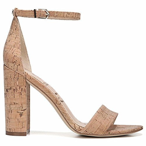 Sam Edelman Women's Yaro Heeled Sandal, Natural, 8 M US by Sam Edelman