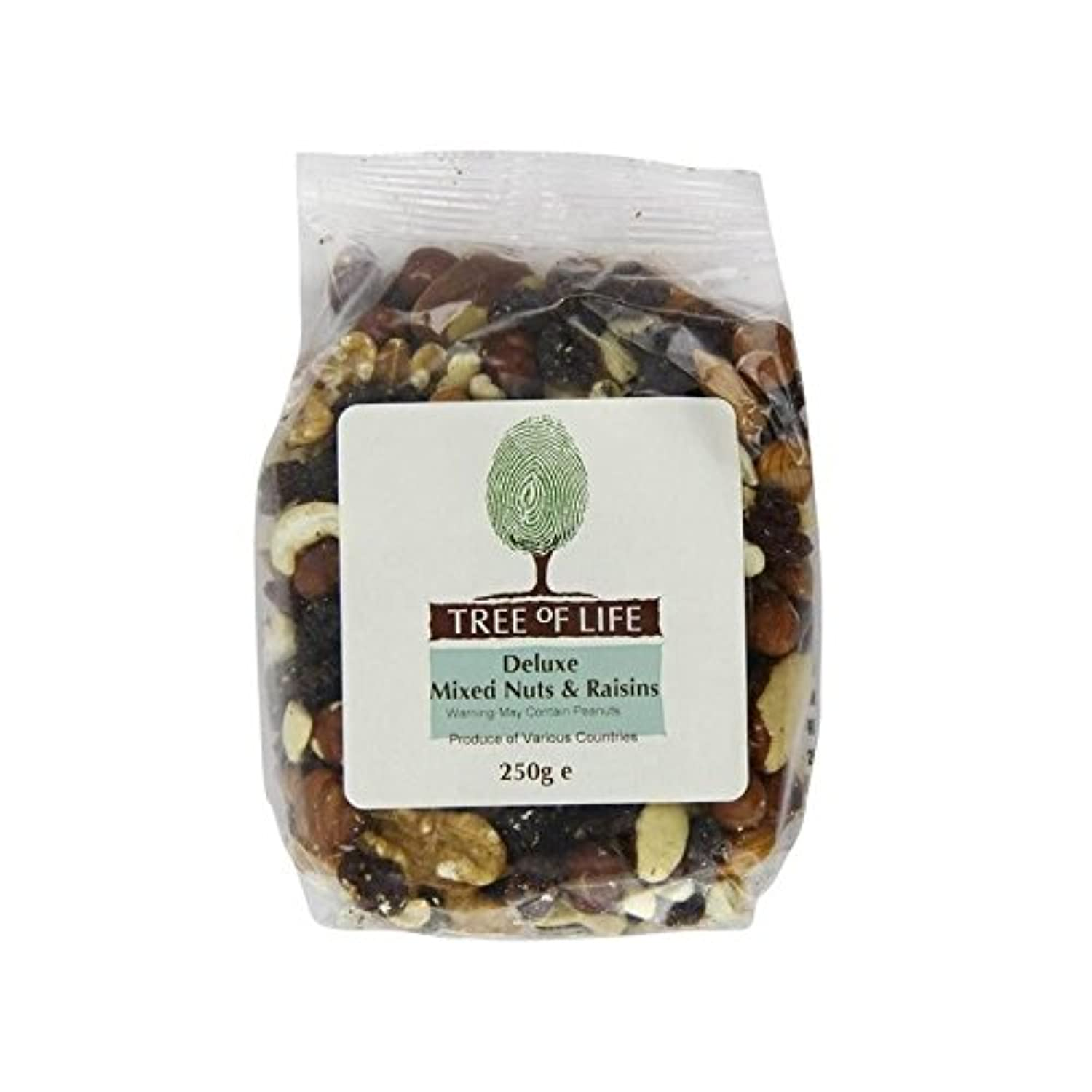 Tree of Life Deluxe Mixed Nuts & Raisins 250g - Pack of 2