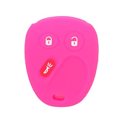 SEGADEN Silicone Cover Protector Case Skin Jacket fit for CHEVROLET GMC CADILLAC HUMMER SATURN PONTIAC 3 Button Remote Key Fob CV4610 Rose: Automotive