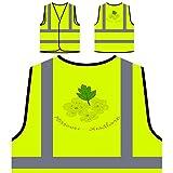 Missouri Hawthorn Personalized Hi Visibility Yellow Safety Jacket Vest Waistcoat n385v