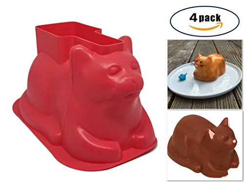Mini-Cat-Shaped-Silicone-Cupcake-Baking-Mold-4-Pack-For-Cake-Cupcakes-Chocolate-Candy-Great-For-Birthday-Parties-and-Crafting-Perfect-Gift-for-Cat-Lovers-By-Charlie-Cat-Baking