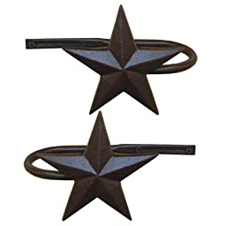 LL Home Metal Star Curtain Holdbacks, Set of 2