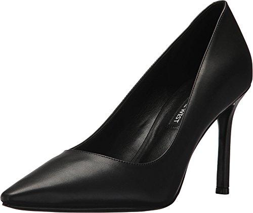 Nine West Women's Emmala Leather Pump, Black Leather, Size 8.0