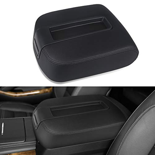 VANJING Center Console Lid Armrest Cover Kit Compatible for 2007-2013 Chevy Avalanche Silverado Tahoe Suburban GMC Yukon Yukon XL Sierra-Replaces 15217111 15941534 ()