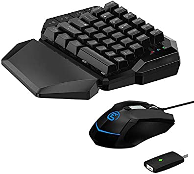 ZZA Gaming Keyboard and Mouse para Xbox One PS4 PS3 Nintendo Switch PC AimSwitch E-Sports Teclado Y Mouse: Amazon.es: Electrónica