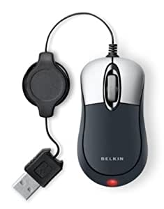 Belkin Mini Optical Glow Mouse  (Grey)