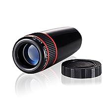 CoCocina Universal Mobile Phone Telephoto Lens 8X Optical Zoom Telescope Camera Lens For iPhone Samsung -Black