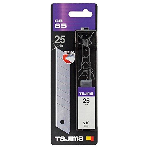 Tajima CB65 Juego deEndura cuchillas de repuesto, color plateado, 25 mm, set de 10 piezas 25mm set de 10piezas