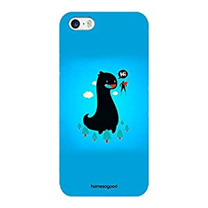 HomeSoGood Say Hi To Big Friend Blue Case For iPhone 5 / 5S (Back Cover)