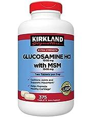 Kirkland Signature Extra Strength Glucosamine Extra Strength HCl with MSM, 375 Tablets by Extra Strength Glucosamine Extra Strength HCl with MSM