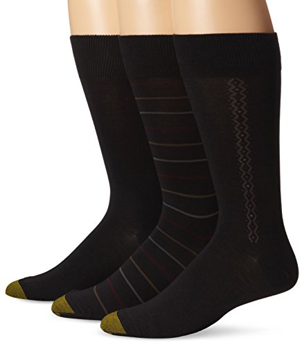 k Fashion Freshcare Dress Crew, Black/Black/Black, Sock Size:10-13/Shoe Size: 6-12 (Gold Toe Bamboo)