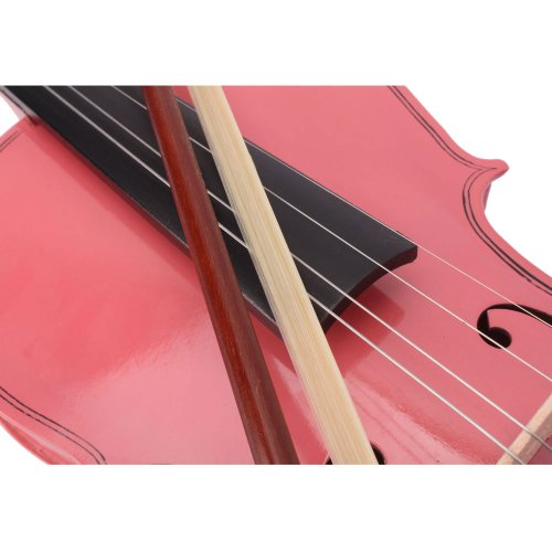 Lovinland 4/4 Acoustic Violin Pink Beginner Violin Full Size with Case Bow Rosin by Lovinland (Image #4)