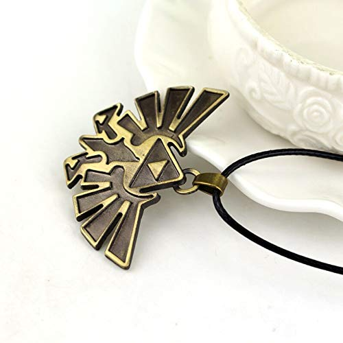 Necklace for Men 3D The Legend Of Zelda Triforce Pendant Necklace Jewelry Butterfly Charm Papillon Necklace Gothic Women And Men Rope Leather