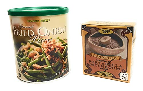 Trader Joe's Condensed Cream Of Mushroom Soup And Gourmet Fried Onion Pieces
