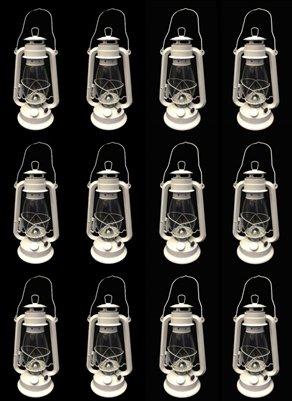 OMNI White Hurricane Kerosene Lantern Wedding Light Table Decorative Lamp 12'' (12) by OMNI