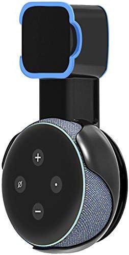 Echo Accesorios, Soporte para Estuche de Montaje en Pared Echo Dot Soporte Funda Protectora para Amazon Echo Dot (3ra generación) Accesorios Que ahorran Espacio para Altavoces domésticos sin Cables ni Tornillos (Negro) 3
