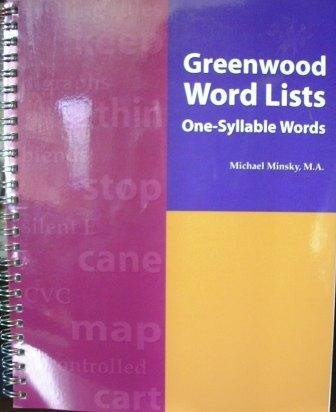 Greenwood Word Lists (One-Syllable Words, Reading Specialists, General and Special Education Teachers, Title I Teachers) pdf epub