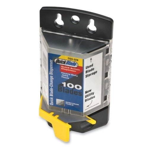 - Wholesale CASE of 10 - Pacific Standard Quick Blade Dispenser-Blade Dispenser,See Thru Body,Includes/Holds 100 Blades