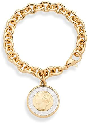 Mamma mia dammi cento lire che in America voglio andar coin bracelet lira bracelet, souvenir bracelet
