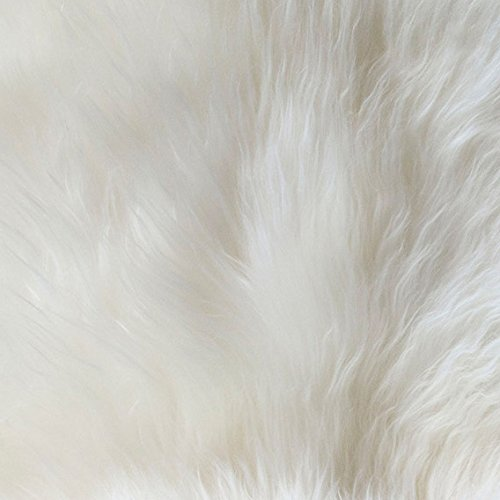 Genuine Australian Super-Soft Sheepskin Rug Large Six Pelt Natural Non-Dyed Fur, Approx. 5ft. x 6ft.