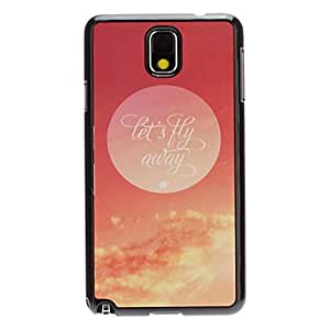 DUR Let's Fly Away Decal Pattern Mirror Smooth Back Hard Case for Samsung Note3 N9000