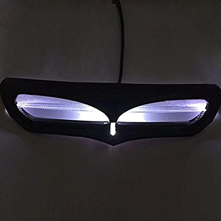 black Qlhshop Fairing Cover LED Lighted Intake Trim Vent Accent For Harley Electra Glide 2014-2017