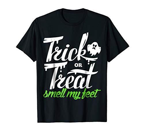 Trick Or Treat Smell My Feet T-Shirt Kids Halloween Shirt]()