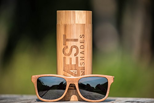 5449567abf7 Wood Sunglasses made from Maple Cherry-100% polarized lenses in a wayfarer  that