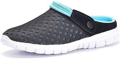 Eagsouni Men's Women's Garden Clogs Mesh Slippers Sandals Summer Beach Shoes Lightweight Outdoor Walking Slippers