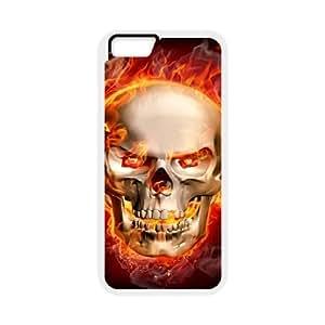 IPhone 6 Plus Fire skulls Phone Back Case Customized Art Print Design Hard Shell Protection YT067230