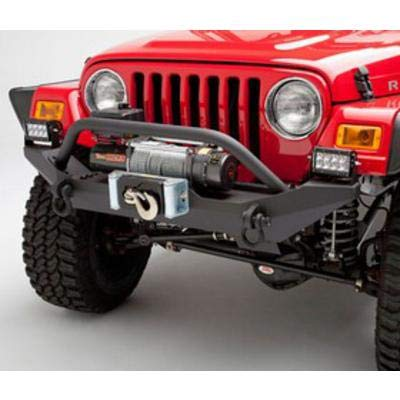 (Body Armor 4x4 TJ-19531Black - Steel Front Winch Bumper for Jeep Wrangler Yj and TJ)