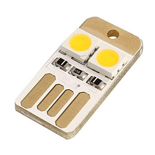 eDealMax USB Power Mini Portable LED lumière Carte de poche de nuit Lampe de Lecture Blanche