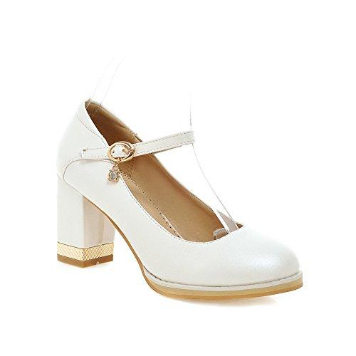 Adee Mesdames Princesse polyuréthane pumps-shoes - Blanc - blanc, 43