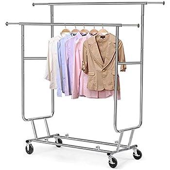 Amazon Com Gjh One Garment Rack Commercial Grade Clothes