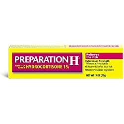 Preparation H Anti-Itch Treatment Cream with Hydrocortisone 1%, Maximum Strength Relief, Tube (0.9 Ounce)