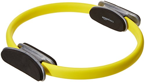 AmazonBasics Pilates Fitness Resistance Training Magic Circle Ring - 14 Inch, Yellow