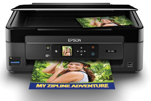 Epson XP-310 Wireless Color Photo Printer with Scanner and Copier, Office Central