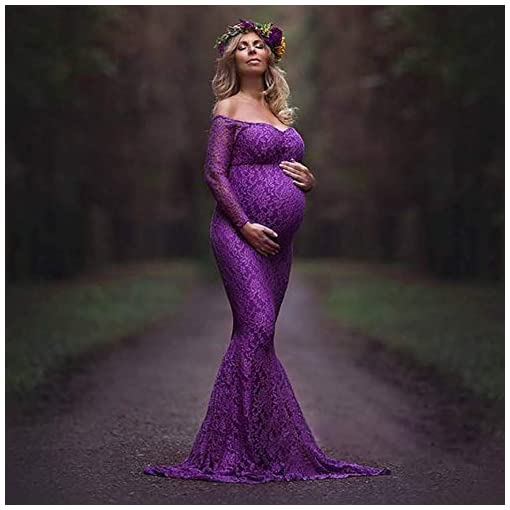 Maternity-Maxi-Dress-Summer-V-Neck-Long-Sleeve-Slim-Fit-Gown-for-Photography-Baby-Shower-Dress