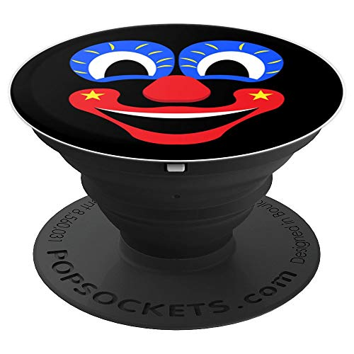 Happy Clown Face Halloween - PopSockets Grip and Stand for Phones and Tablets -