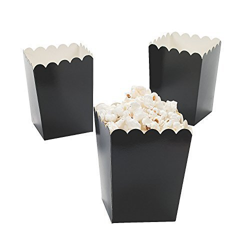 Mini Popcorn Boxes Black 2 Pack