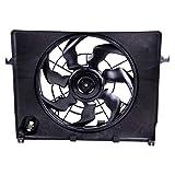ECCPP AC A/C Condenser Radiator Cooling Fan Replacement fit for 2011-2012 Hyundai Sonata 2011-2014 Kia Optima 2.4L