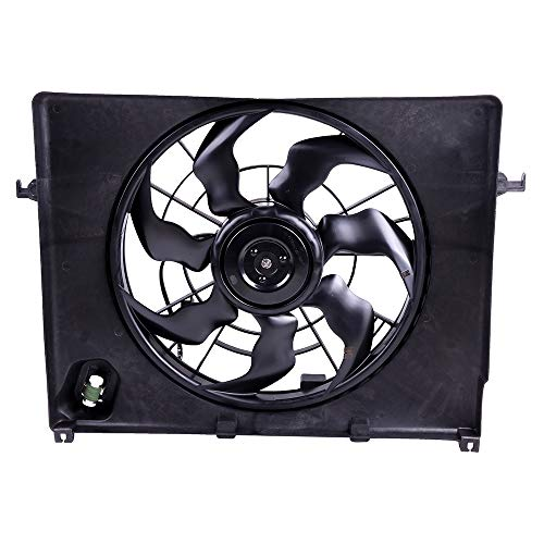 ECCPP AC A/C Condenser Radiator Cooling Fan Replacement fit for 2011-2012 Hyundai Sonata 2011-2014 Kia Optima 2.4L