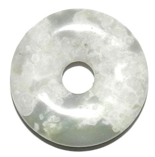 - Bead Jewelry Making Peace Jade 30mm Flat Open Round Donut Serpentine Quartz Gemstone Pendant