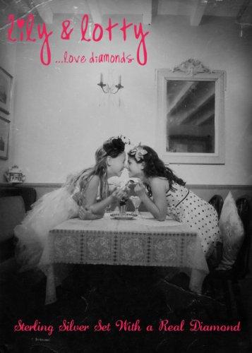 Lily & Lotty - Boucles d'Oreilles - Argent - 925/1000 - H - Diamant - Enfant
