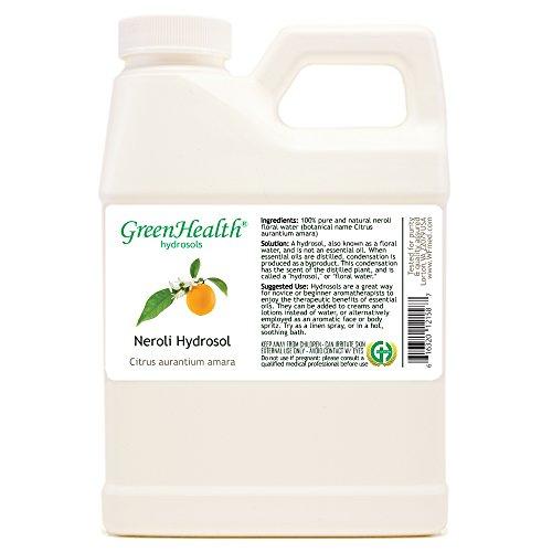 Neroli Hydrosol - 16 fl oz Plastic Jug w/Cap - 100% pure, distilled from essential oil