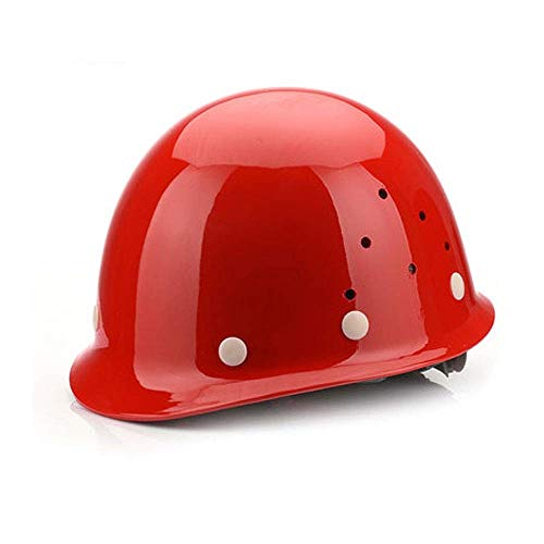 GUOF Safety Helmet Best Comfort Helmet for Height and Rescue Work, red Construction Worker Helmet with Ventilation a (Color : A)